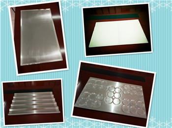 Different types for Aluminum Pans, for baking pans or other kitchen equipment