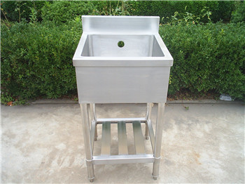 Customer-designed Stainless Steel Mop Sink with faucet hole