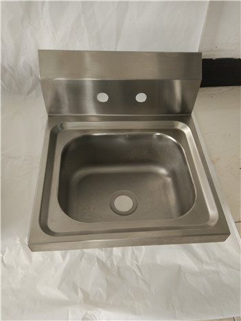 Stainless Steel Customer Designed Deep-drawn hand sink with 4 faucet hole