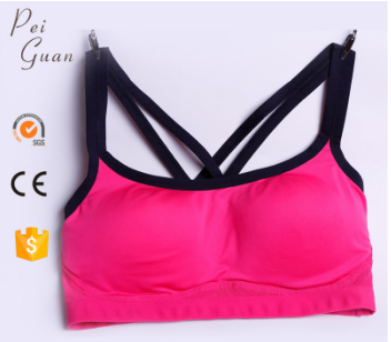 Customize popular mesh anti-bacterial women sexy sport bra for sale