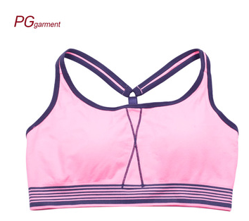 China factory hot sale breathable comfortable fashion light sports bra women