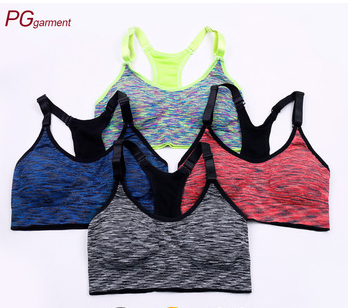 Multi-color fashion comfort breathable fitness sublimation custom sports bra