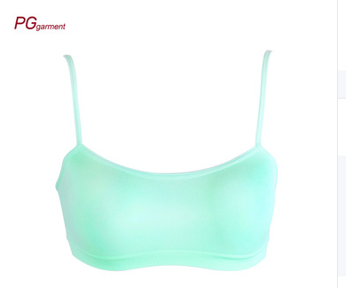 Women's Sexy Everyday Basic T-Shirts Modern Micro Seamless Bralette Nylon Pullover Sport Bra