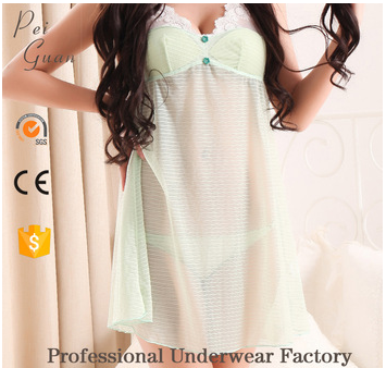 Quick dry sexy ladies hot transparent nightwear for women