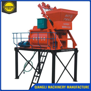 JS750 35 m3/h Stationary Twin Shaft Concrete Mixer Machine Price