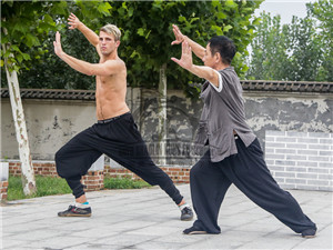 taichi training in Qufu Shaolin Kung Fu School