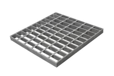 Hot Dipped Galvanized Steel Grating with twisted square rod for stairs and treads