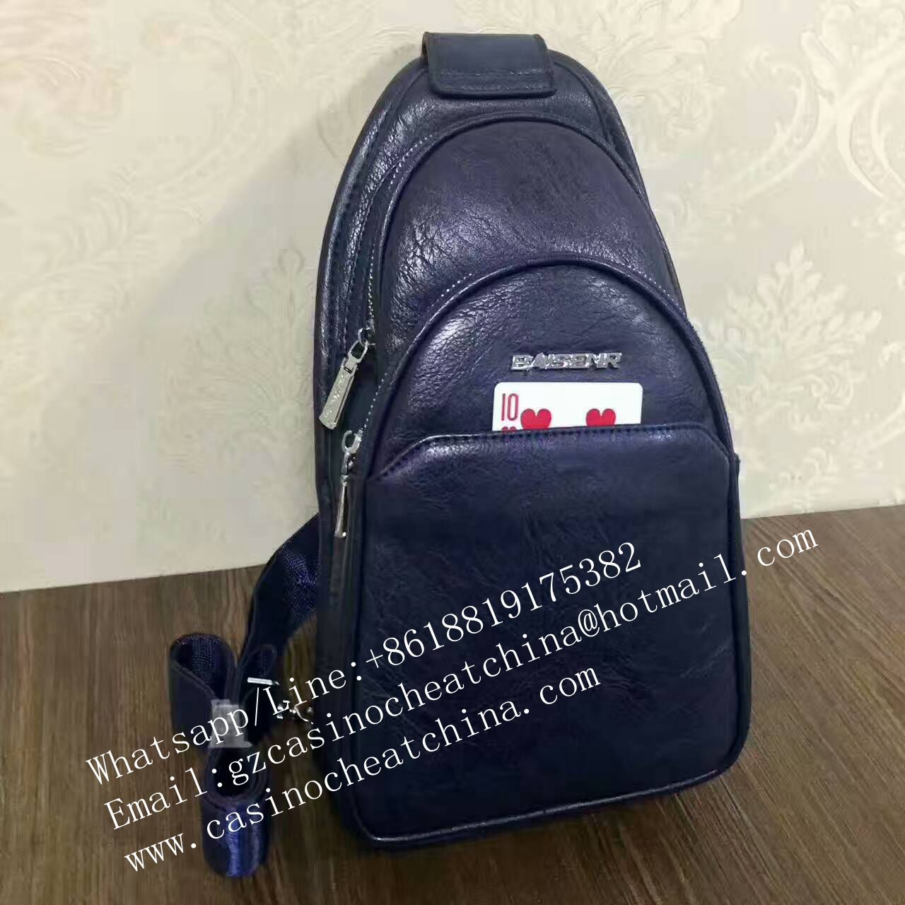 Poker exchange shoulder bag for poker cheating device/exchange poker cards/magic trick/casino cheat/cards cheat