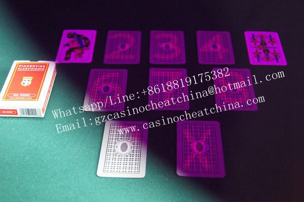 Dal nergo piacentine plastic marked cards for poker game cheat/invisible ink/perspective glasses/casino cheat