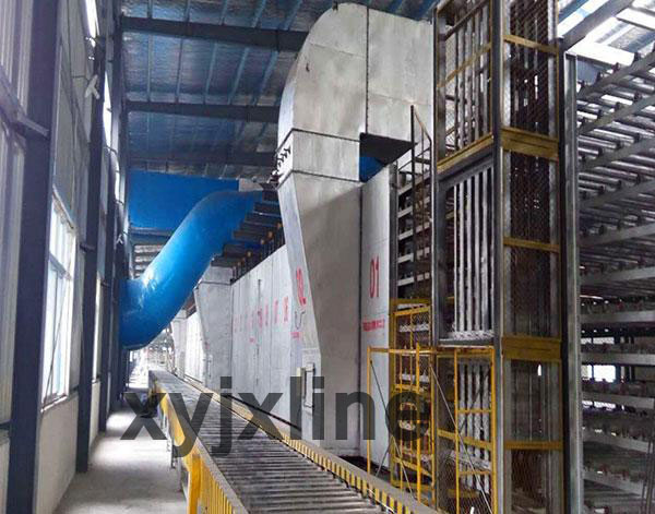 gypsum board processing line