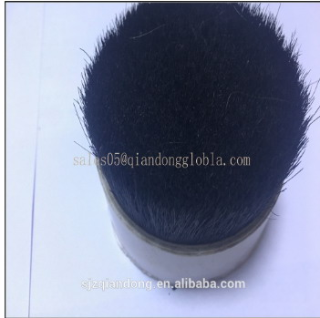 70% Tops black boiled hog bristle hair with health certificate