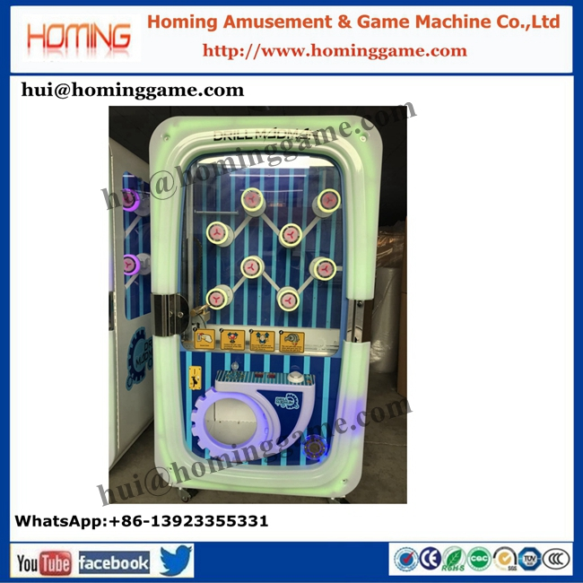 Hotest coin operated key master amusement redemption machine drill madman prize game machine(hui@hominggame.com)
