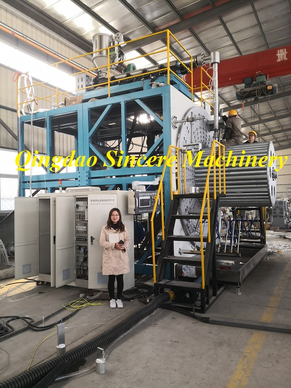 HDPE spiral weholite winding pipe production extrusion line