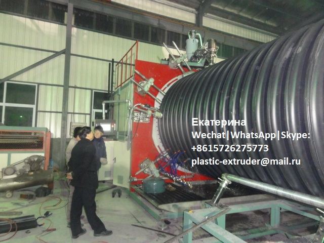 polyethylene sewage spiral corrugated pipe making machine line