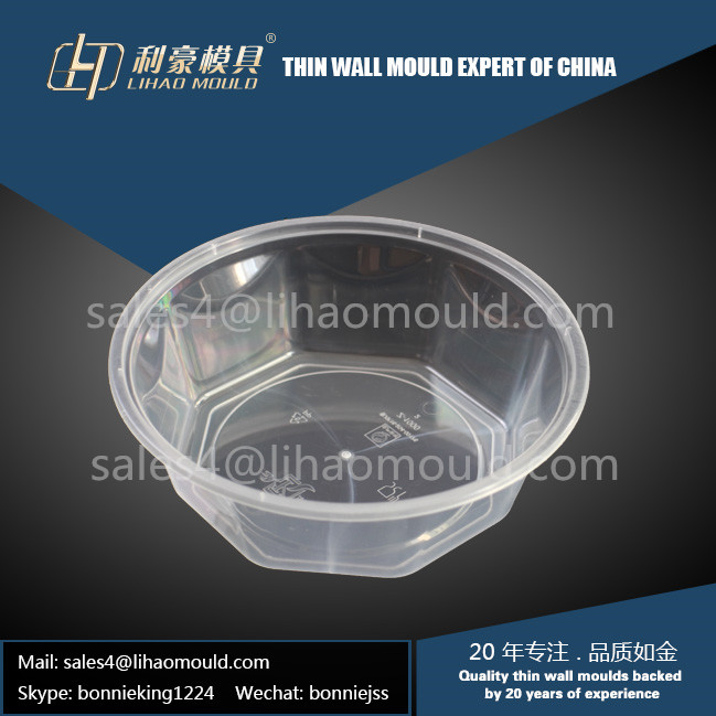 1000ml PP disposable and thin wall bowl mould