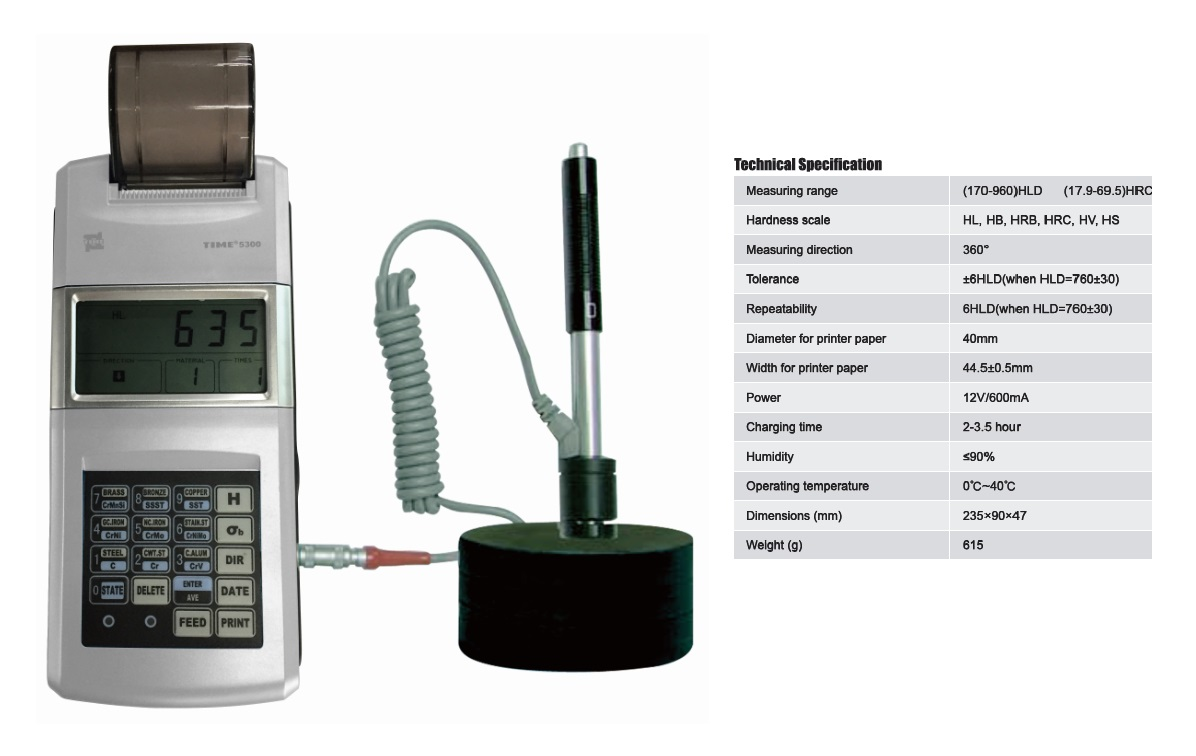 Economical Simple-to-use Leeb Hardness Tester TIME®5300 for Metal testing
