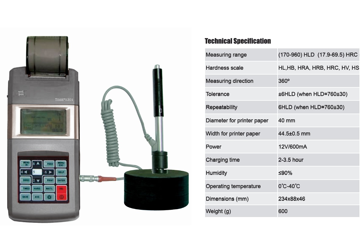 Portable LCD Display Hardness Tester TIME®5301 from Reliable Supplier