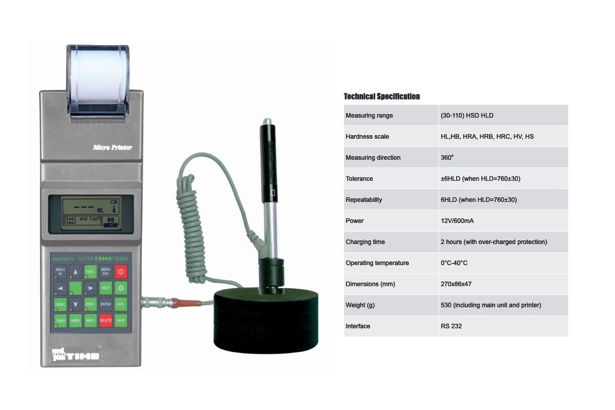 Portable Leeb Hardness Tester TIME®5303 Specially Designed for Roller