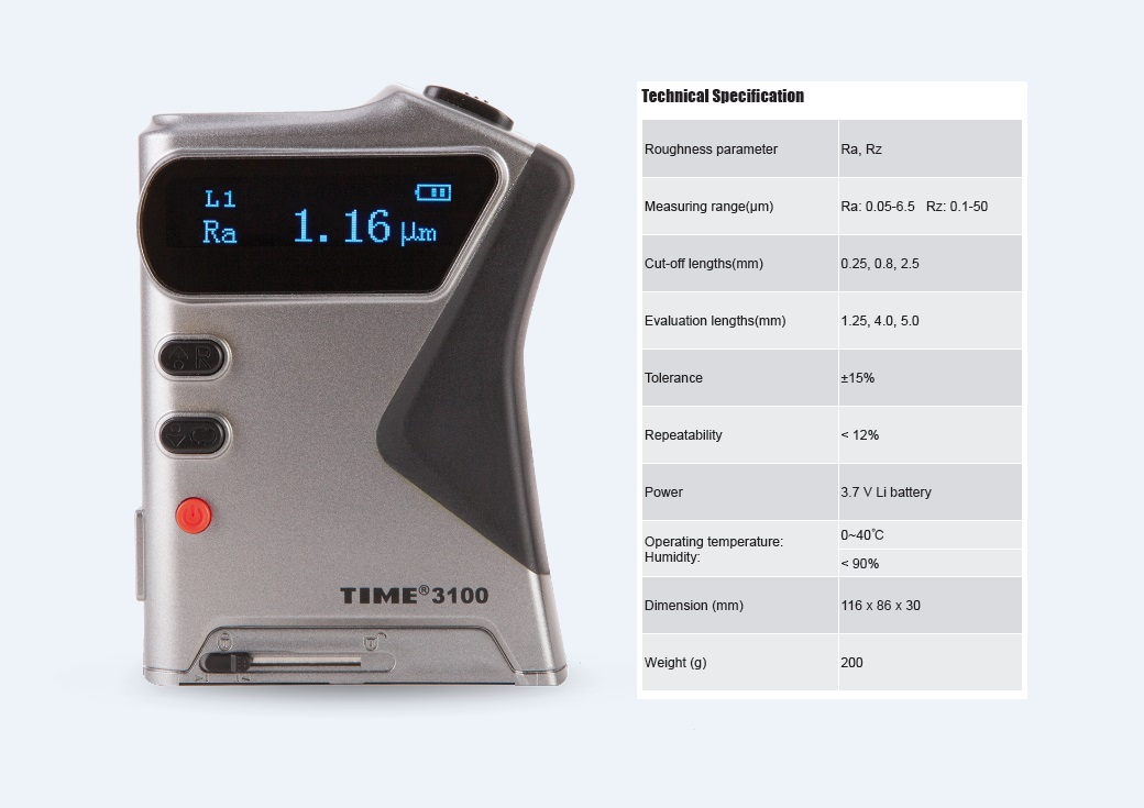 Best Price Surface Roughness Tester TIME®3100 with two OLED Indicators