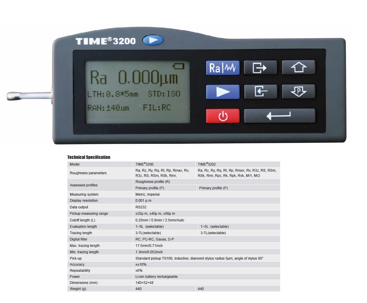 Popular Handheld Surface Roughness Tester TIME®3200/3202 from Reliable Manufacturer