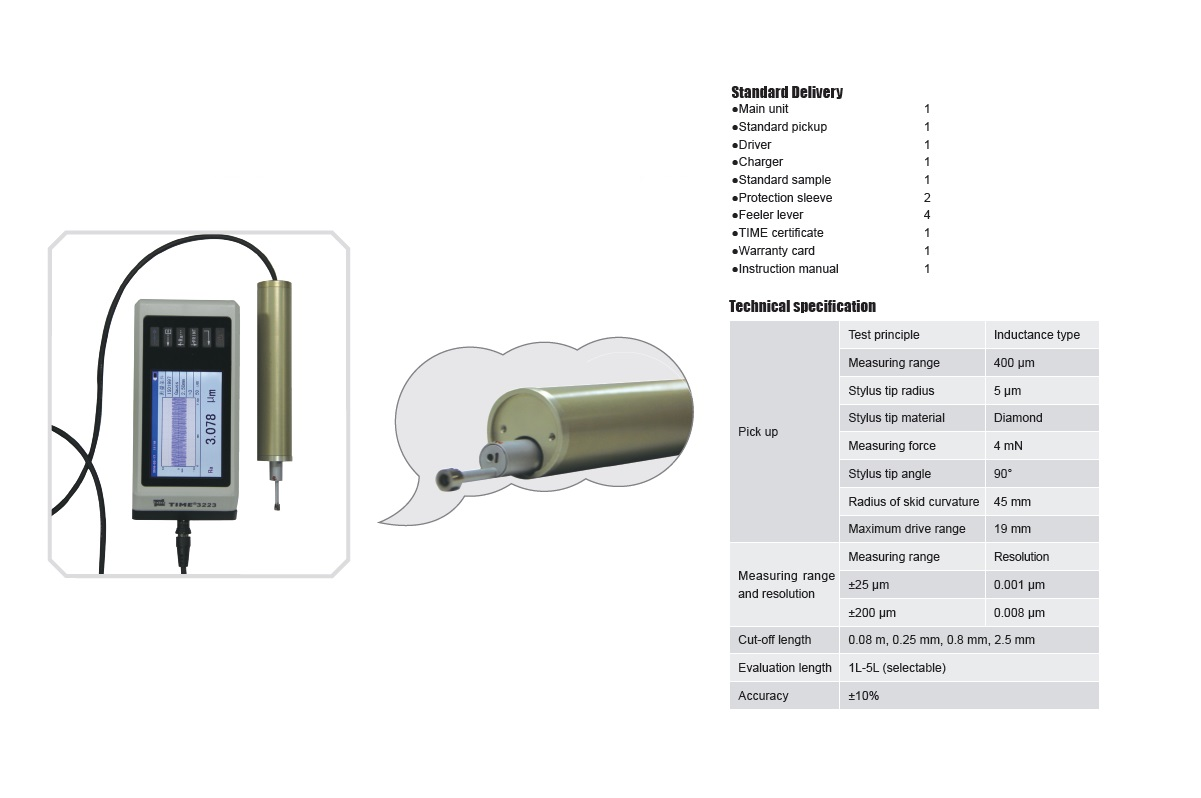 Top Quality Surface Roughness Tester TIME®3223 from TIME Testing Instruments