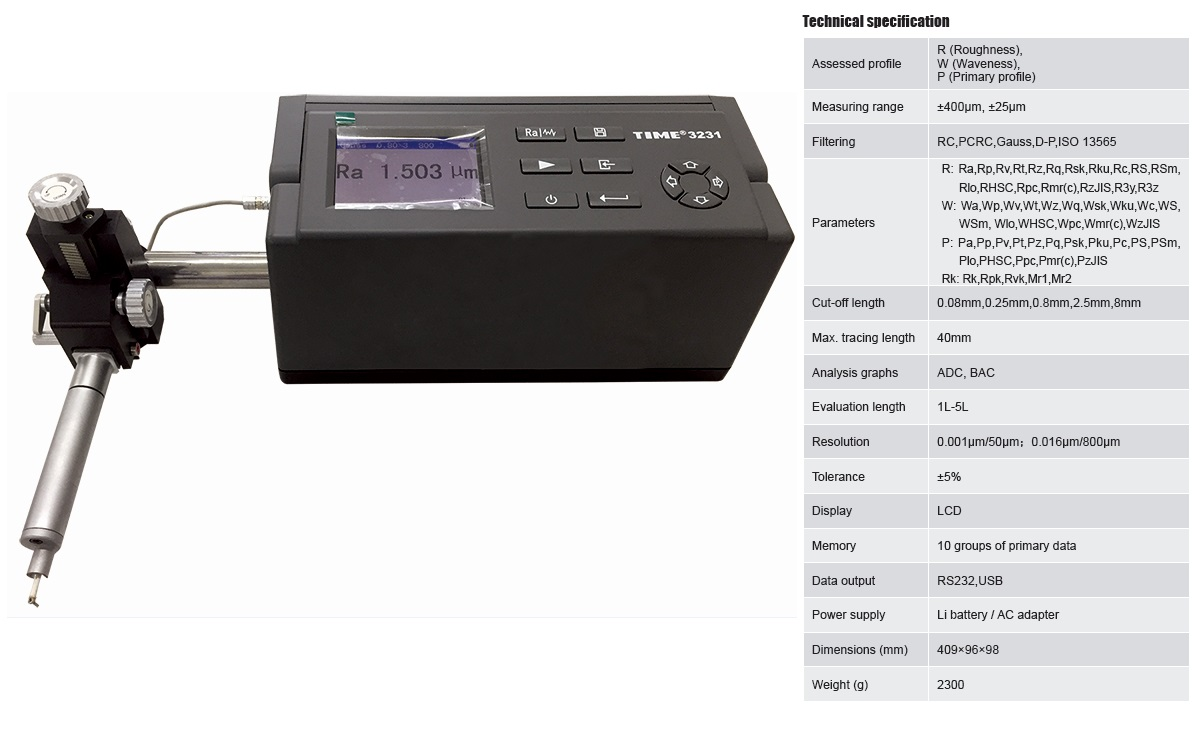 ISO Certified Surface Roughness Waveness Profile Tester TIME®3231