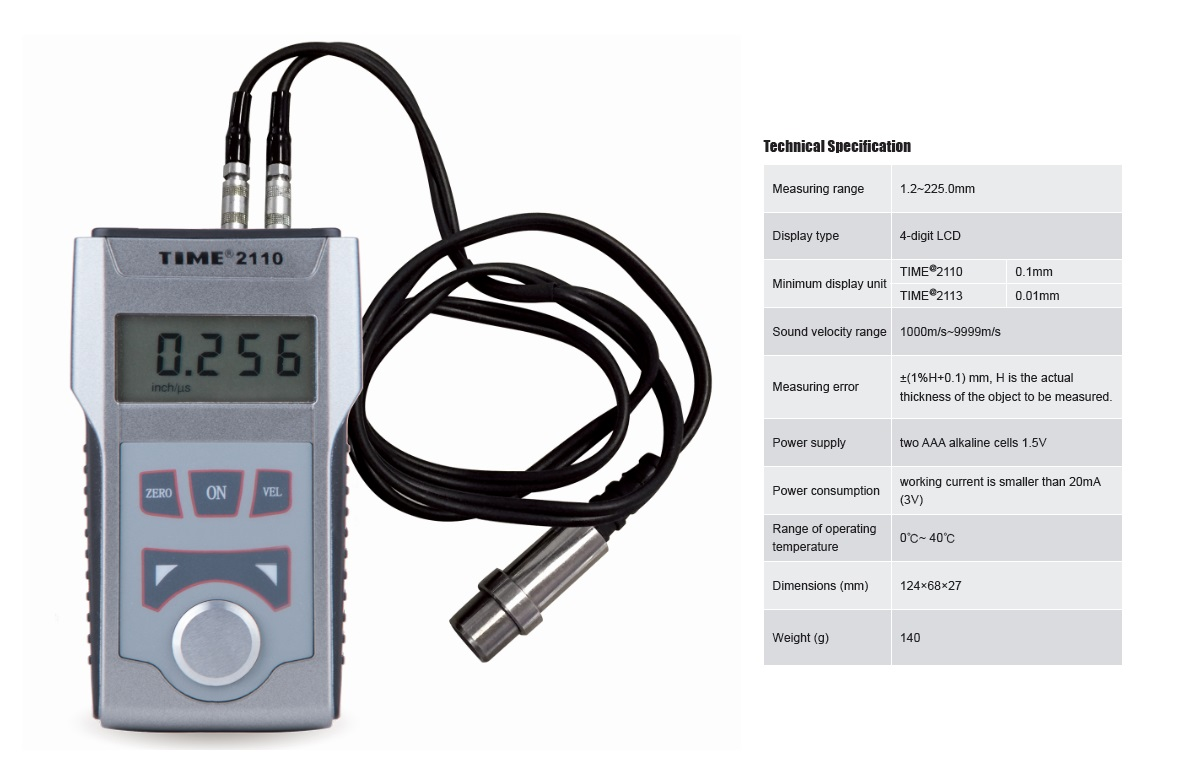 Portable Digital Ultrasonic Thickness Gauge TIME®2110/2113