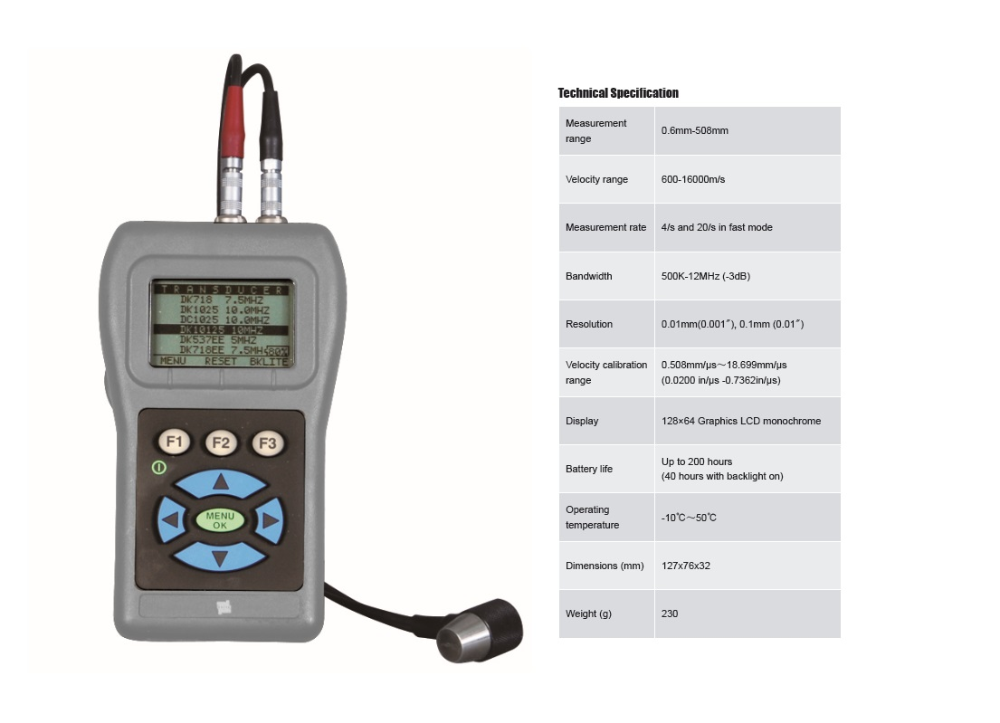 Portable Echo-echo Ultrasonic Thickness Tester TIME®2430