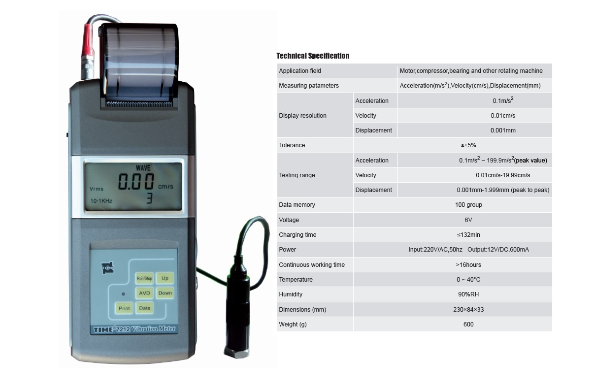 High Sensitivity Vibration Tester TIME®7212 for Fast Flaw Detection