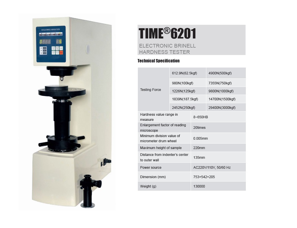 Electronic Brinell Hardness Testing Machine TIME®6201