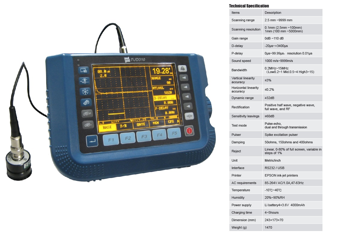Economical Portable Ultrasonic Flaw Detector TUD310 from Reliable Supplier