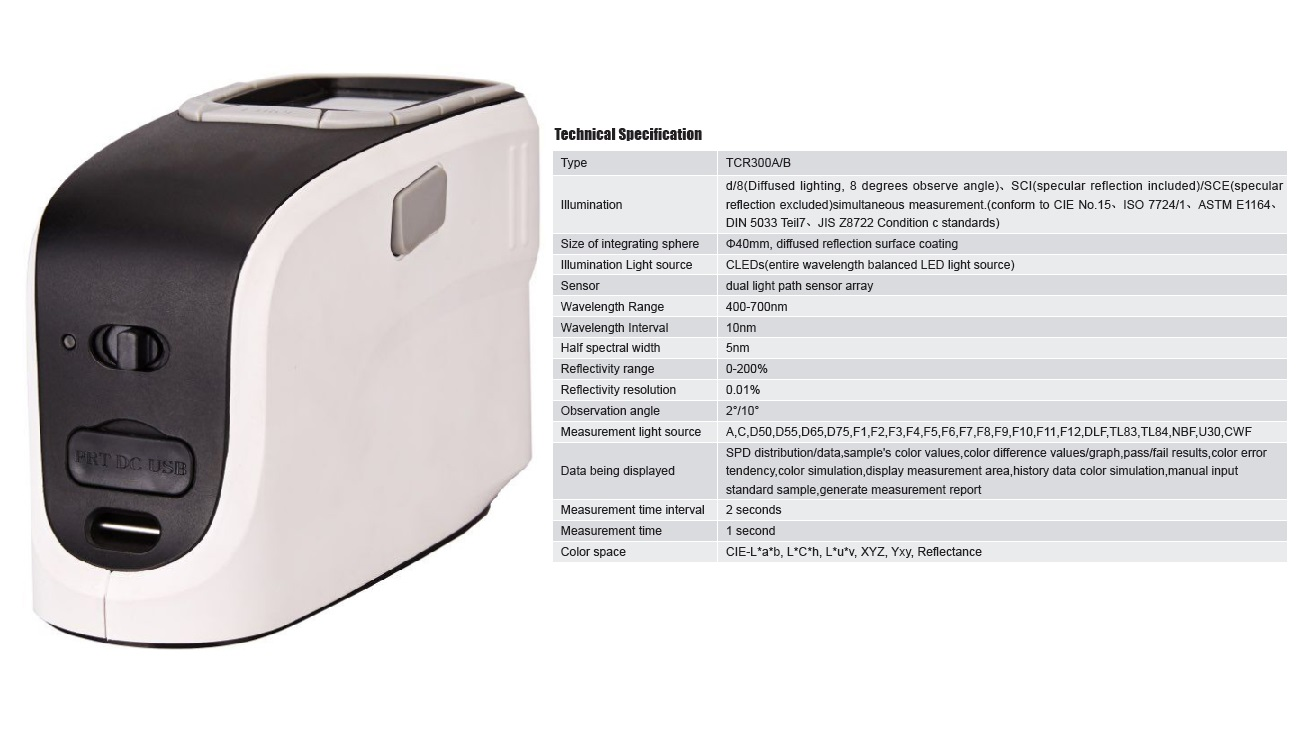 High Quality Spectrophotometer TCR300 for Color Matching