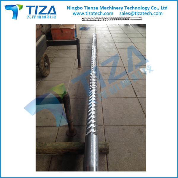 Screw and barrel for plastic rubber IMM Extrusion machine