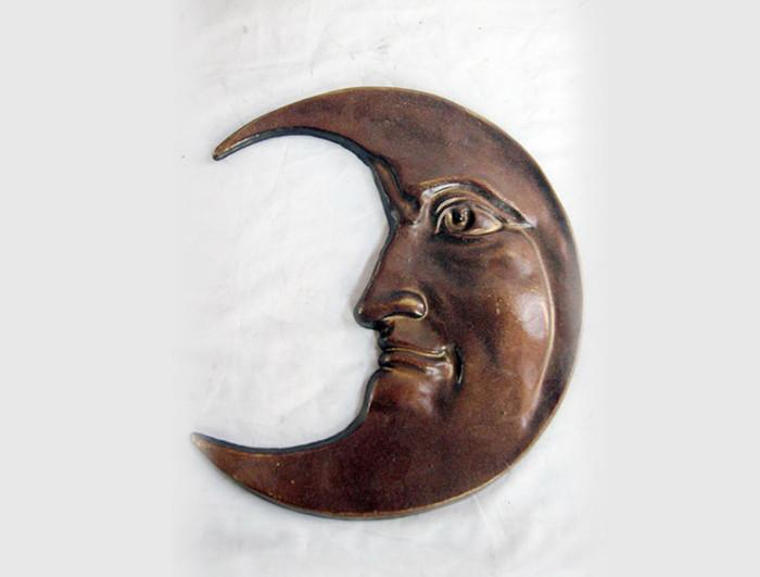 Cast iron half moon for Wall Decoration
