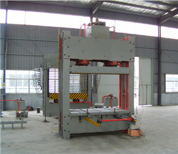 BY81-4*8/600SZ high quality plywood pre press machine with chain conveyor