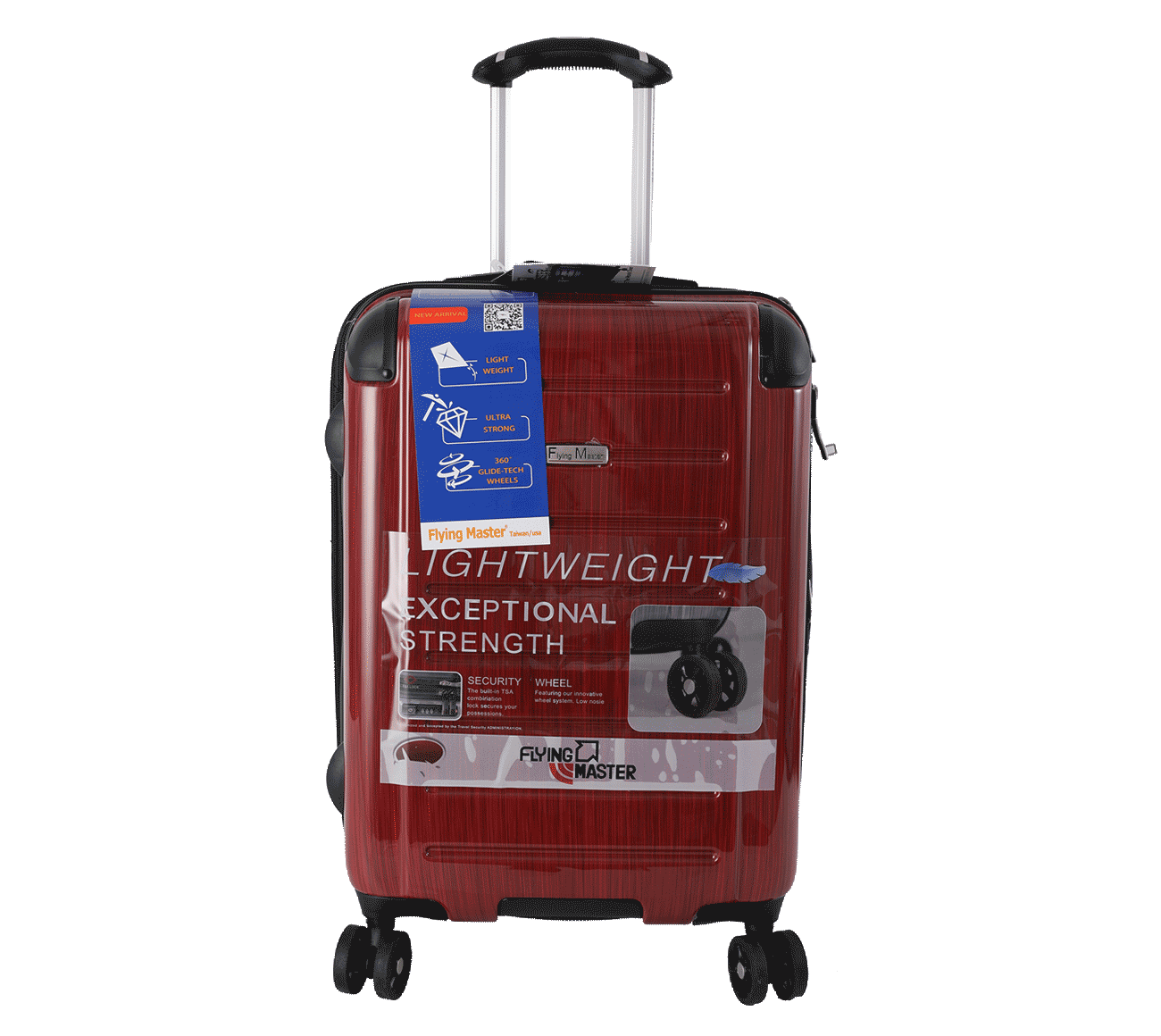 New luggage with universal spinners