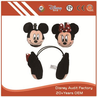 Short Fiber Mickey Mouse Ear Headband 100% PP Cotton