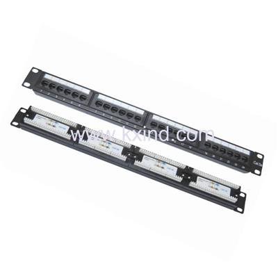 Network Patch Panel Cat5e(Cat6e) 24 ports Cat5e 48 ports patch panel 19 inch 1u