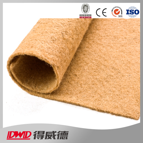 eco-friendly 100% biodegradable jute fiber felt mat