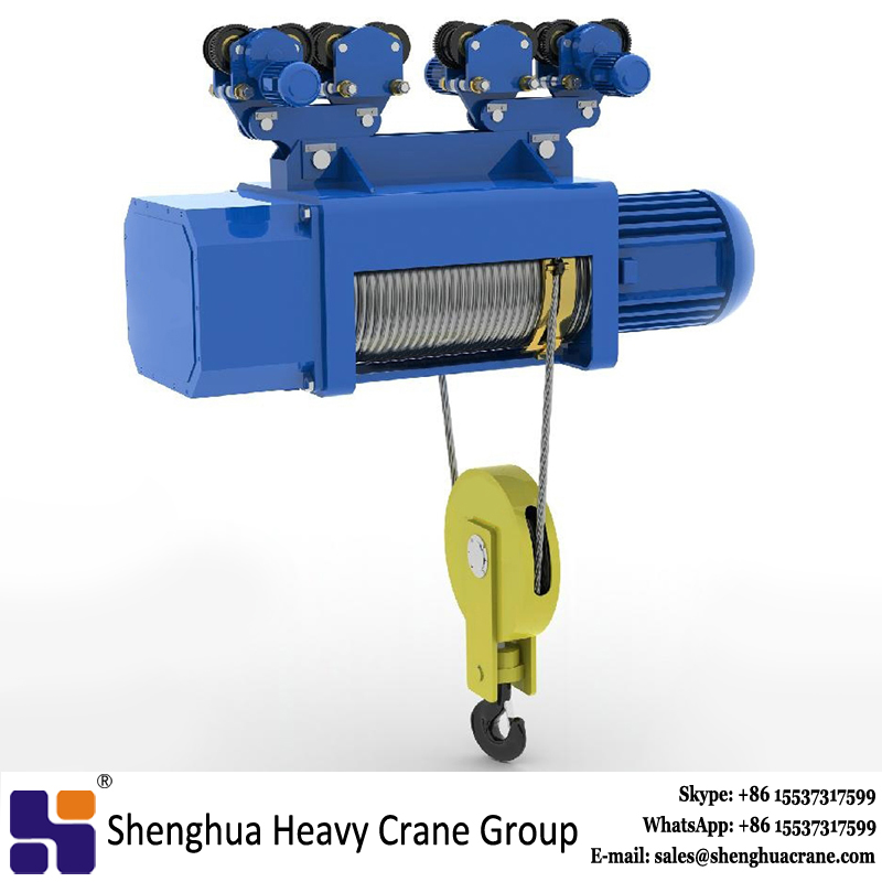 10 ton wire rope pulley electric crane hoist 2 ton price