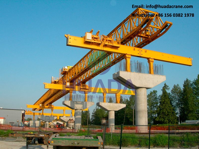 Very popular concrete 180T viaducts bridge launcher crane for girder erection price
