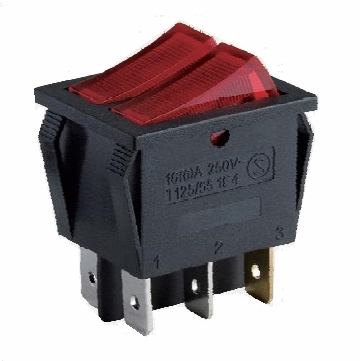 A7 baokezhen switch ,Double pole double throw illuminated Rocker Switch