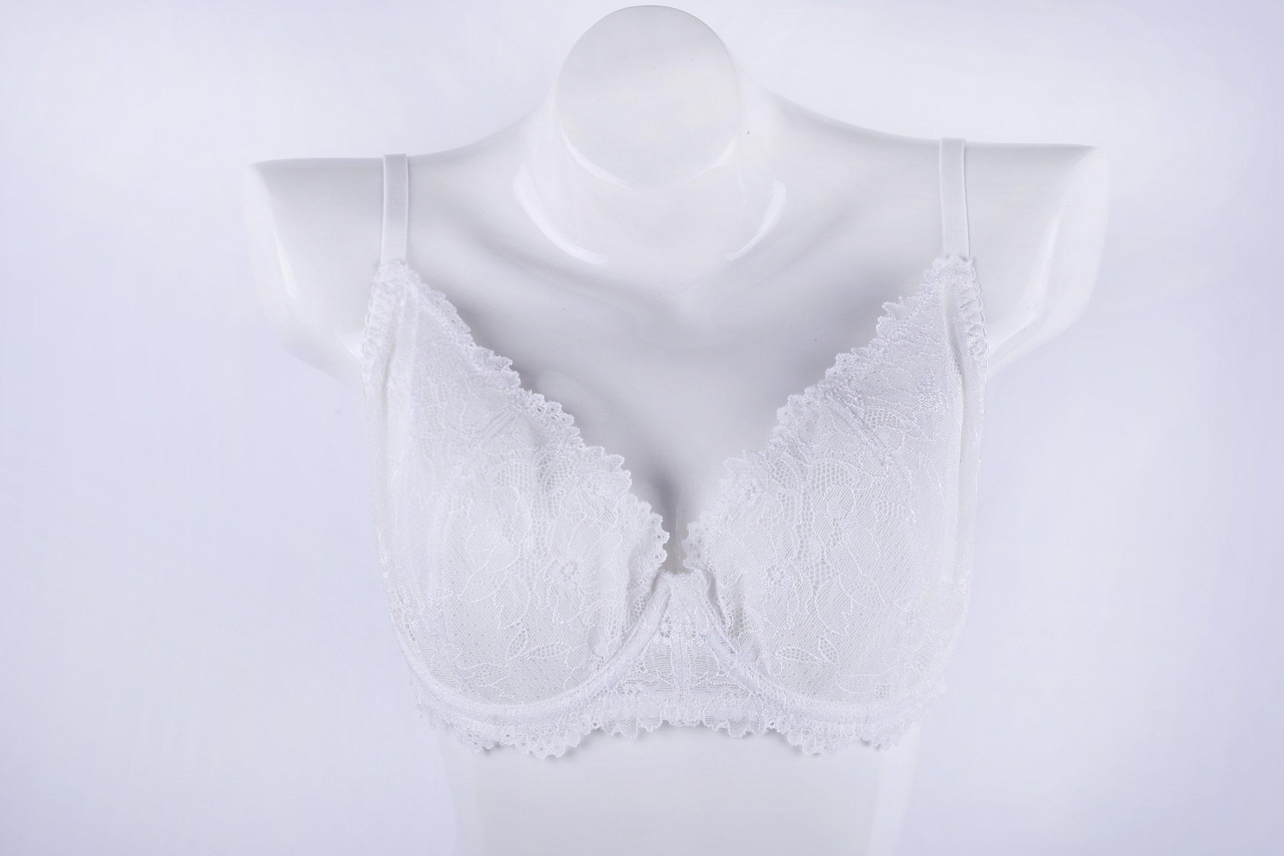 Breathable plus size sexy lace trim bra perfect mesh see through latest sexy fancy push up bra