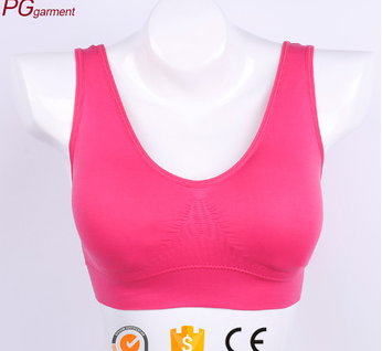 Fashionable women's support racer back pro fit sports bra yoga bra seamless sports bra