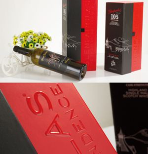 theGood service and the cheapest price wine packaging desig