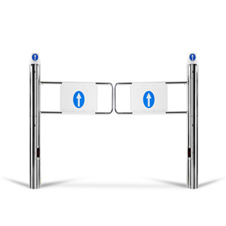 Supermarket Swing Revolving Automatic Electric Sliding Carbon steel Turnstile Gate