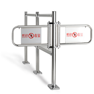 Specially designed Supermarket Single / double open Checkout Counter cash swing Gate
