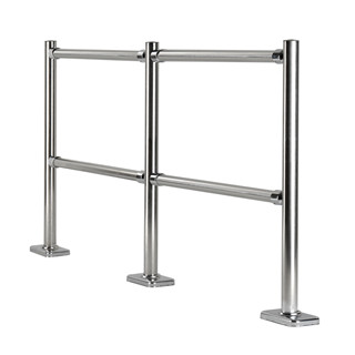 High quality Stainless steel clad pipe Safety Queue Chrome  Barrier