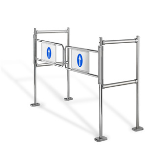 Supermarket Dual Mechanical Swing Entrance Barrier automatic Gate Opener