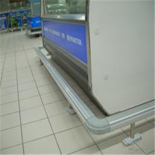 Cheap Price Supermarket Aluminum alloy crash protection barrier series supplier